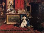 tree famous paintings - interior of the artist s studio aka the tenth street studio by william merritt chase