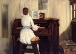 william merritt chase mrs. meigs at the piano organ paintings
