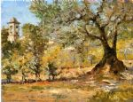 william merritt chase olive trees florence painting-81330