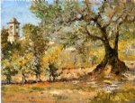 william merritt chase olive trees florence painting-22654