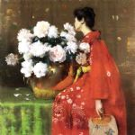 william merritt chase peonies painting