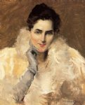 william merritt chase portrait of a lady ii painting
