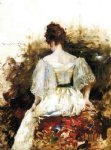 william merritt chase portrait of a woman the white dress painting 22670