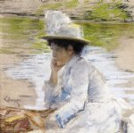 william merritt chase original paintings - portrait of mrs. chase by william merritt chase