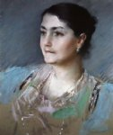 william merritt chase portrait of mrs. william chase painting-22697