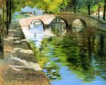reflections aka canal scene by william merritt chase painting