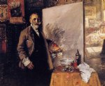 william merritt chase self portrait iii painting