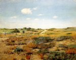 william merritt chase original paintings - shinnecock hills 4 by william merritt chase