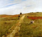william merritt chase original paintings - shinnecock hills 6 by william merritt chase