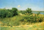 william merritt chase original paintings - shinnecock hills peconic bay by william merritt chase