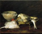 william merritt chase still life with fish painting