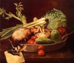 william merritt chase still life with vegetables painting 22767