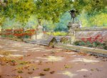 light art - sunlight and shadow in prospect park by william merritt chase