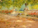 william merritt chase terrace prospect park painting