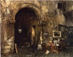 william merritt chase the antiquary shop painting 22780