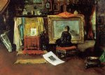 william merritt chase the tenth street studio ii painting