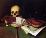 mortality and immortality by william michael harnett famous paintings