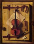 william michael harnett still life violin and music painting 22475