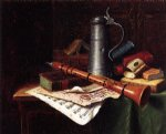william michael harnett still life with clarinet painting 22486