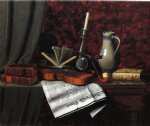 william michael harnett still life with violin painting 22504
