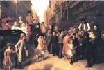 replica acrylic paintings - poverty and wealth by william powell frith