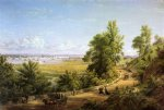 bay of new york from the heights of hoboken by william rickarby miller painting