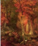 william trost richards forest interior in autumn paintings