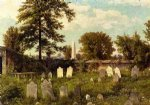 william trost richards leverington cemetery painting