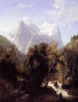 mountain print - path through the mountains by william trost richards