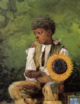 photo prints - a flower for the teacher by winslow homer