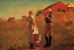winslow homer a temperance meeting painting