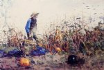 winslow homer among the vegetables painting