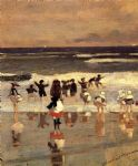beach scene by winslow homer oil paintings