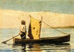 winslow homer boy in a small boat painting 22256