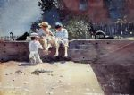 boys and kitten by winslow homer oil paintings
