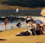 winslow homer by the shore painting