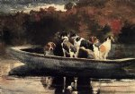 winslow homer dogs in a boat painting 22290