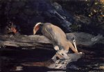 deer art - fallen deer by winslow homer