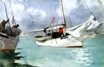 winslow homer fishing boats key west painting 22187