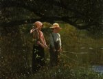 winslow homer fishing ii painting