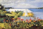 winslow homer flower garden and bungalow bermuda painting 22299