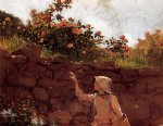 winslow homer girl in a garden painting