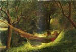 girl art - girl in a hammock by winslow homer