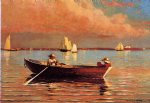 winslow homer watercolor paintings - gloucester harbor by winslow homer