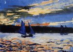 winslow homer gloucester sunset painting