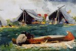 montagnais indians by winslow homer painting