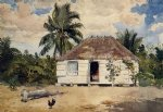 winslow homer native huts nassau posters