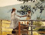 winslow homer on the stile painting