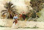 winslow homer on the way to market bahamas painting