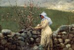 winslow homer peach blossoms painting
